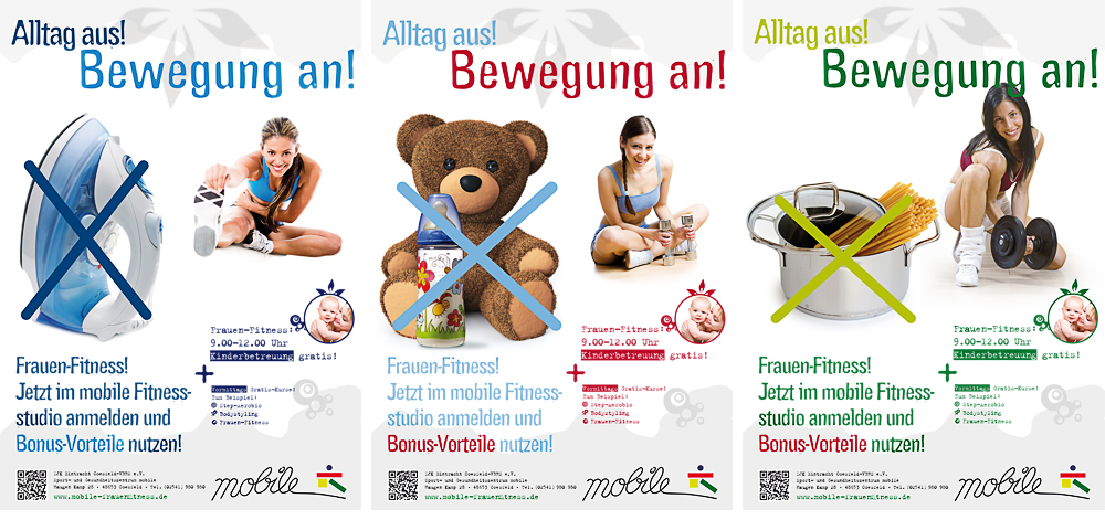 Fitness-Studio Kampagnenmotive Aktionsmotive