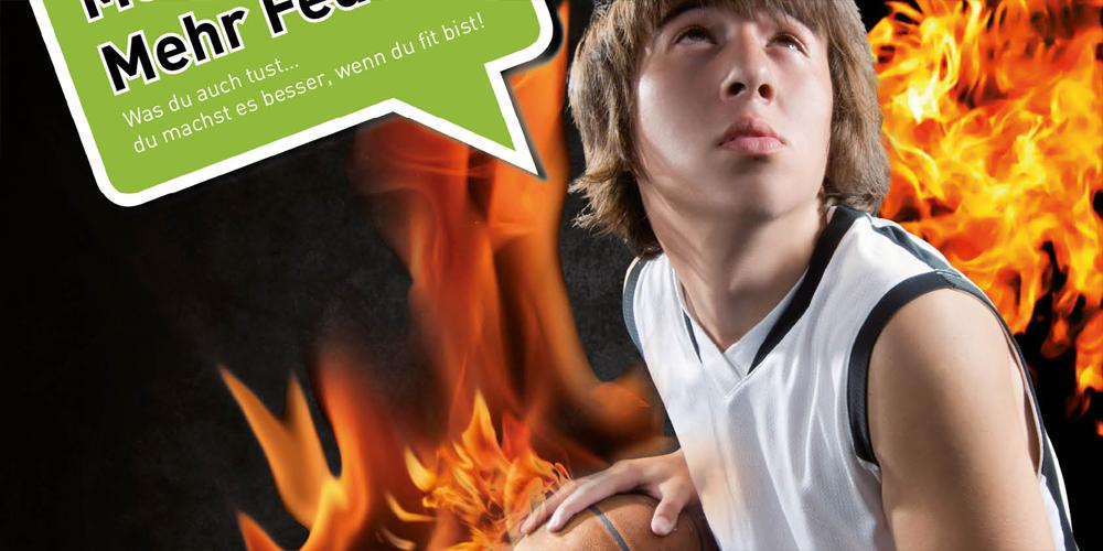 Fitnessstudio Anzeigenmotive zur Gewinnung von jugendlichen Mitgliedern