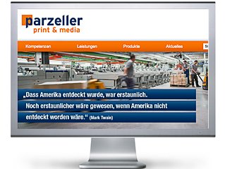 Website für Parzeller Print & Media von together concept