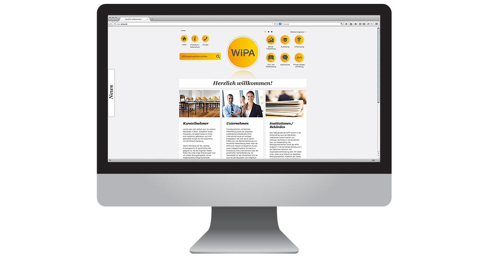 Bildungsmarketing: Typo3 Homepage für WIPA von together concept