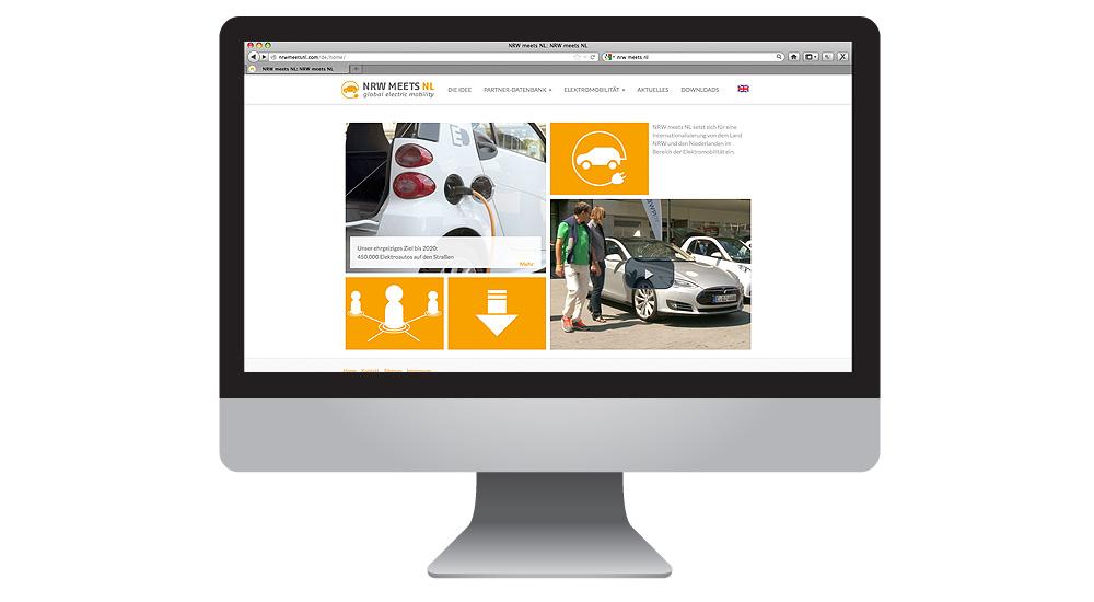 Elektromobilität Homepage für NRW meets NL
