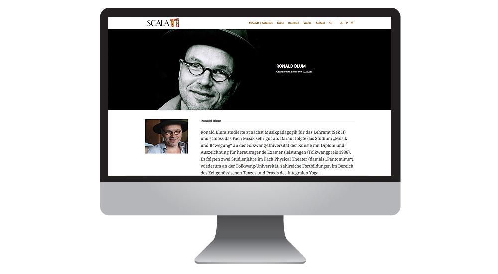 Die neue Homepage Tanz-Studio SCALA11