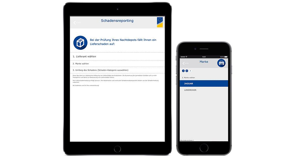 Webapp für einfache Erfassung von Lieferreklamationen