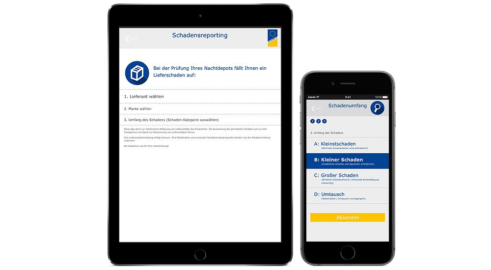 Webapp erleichtert dei Meldung Lieferschäden bei Autoteilen