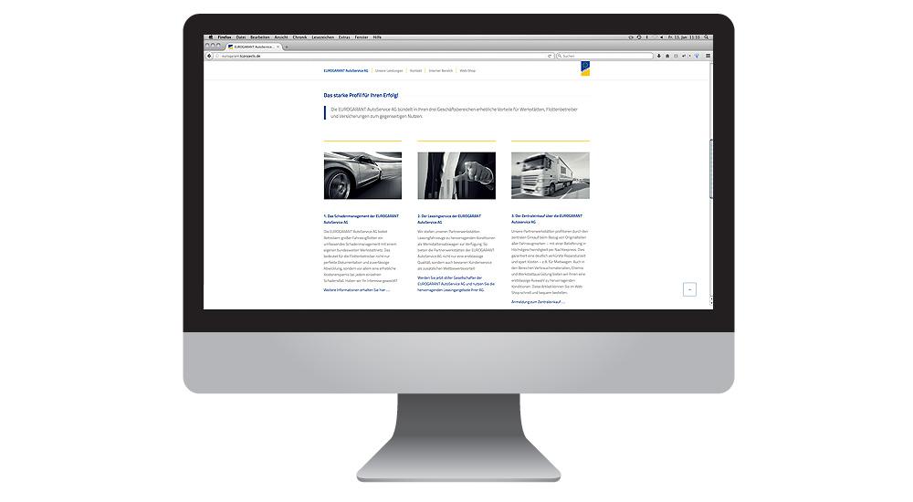 Homepage Relaunch für EUROGARANT