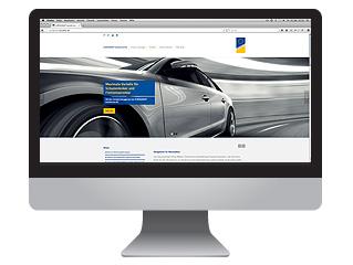Homepage in der Kfz-Branche