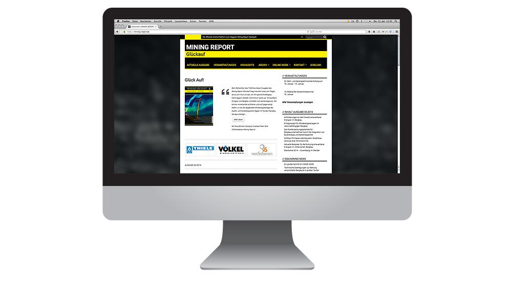 Mining Report Online-Editorial von together concept