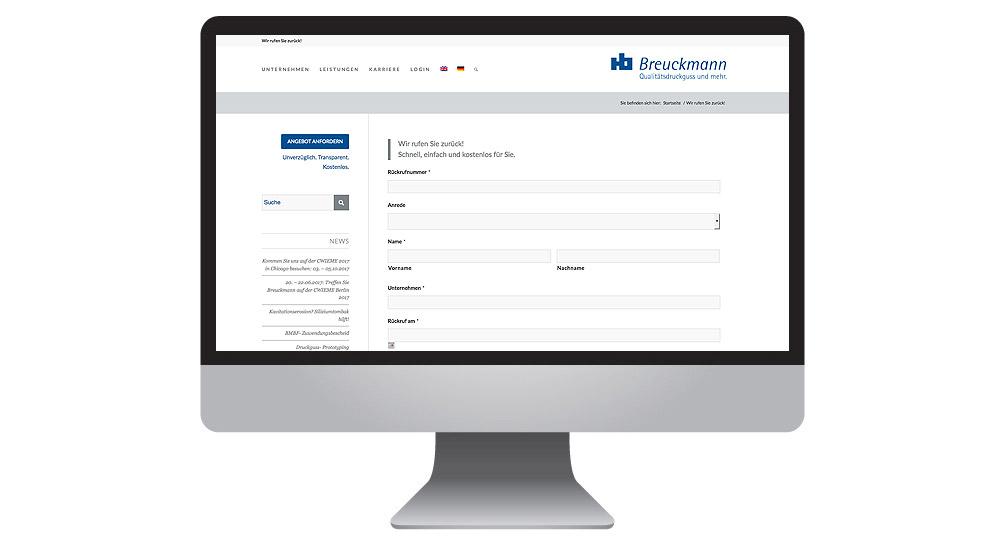 Online-Formularwesen für einfache Unternehmenskommunikation