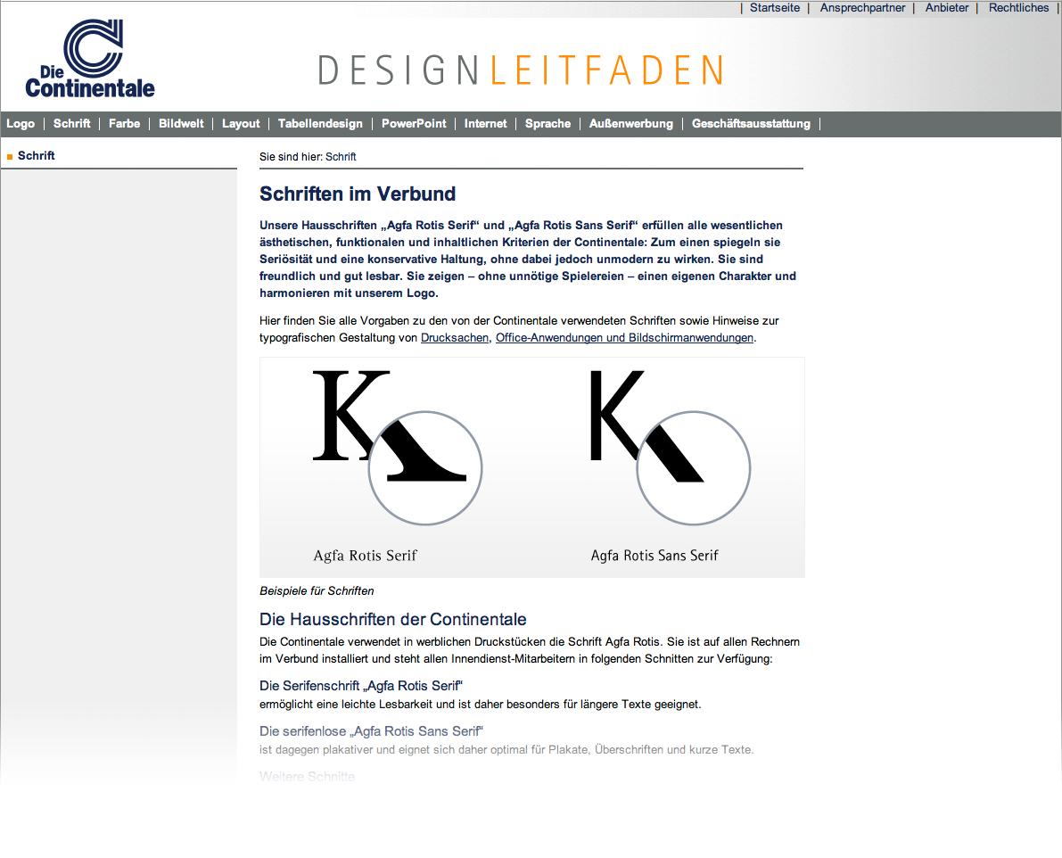 Designleitfaden mit Erläuterungen, Vorlagen und Gestaltungskriterien