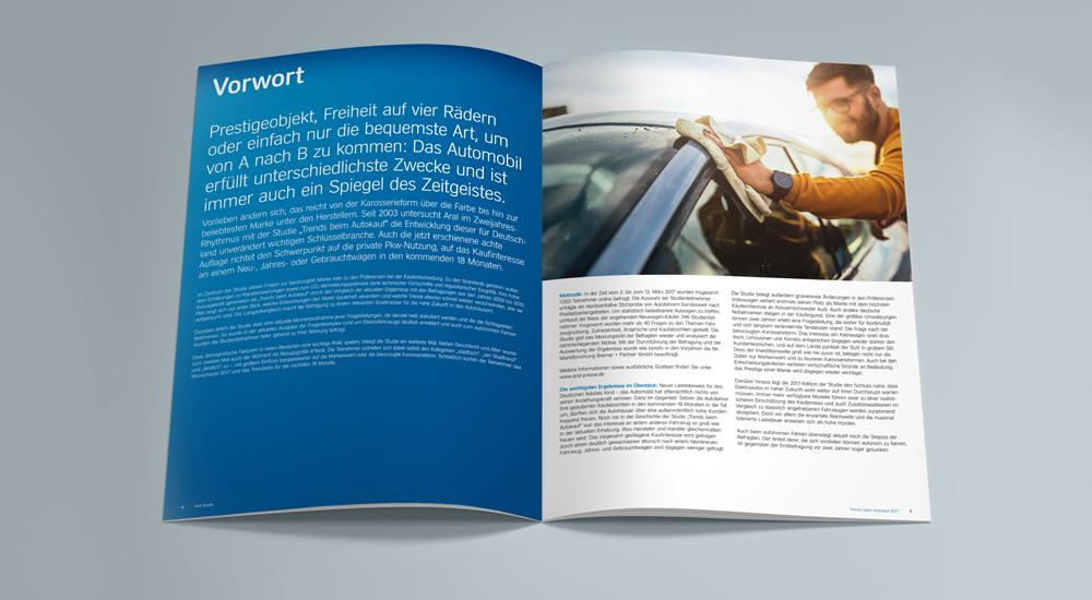 """Beachtenswert und viel beachtet: Die Aral-Studie 2017 """"Trends beim Autokauf"""" – designed by together concept Werbeagentur GmbH"""