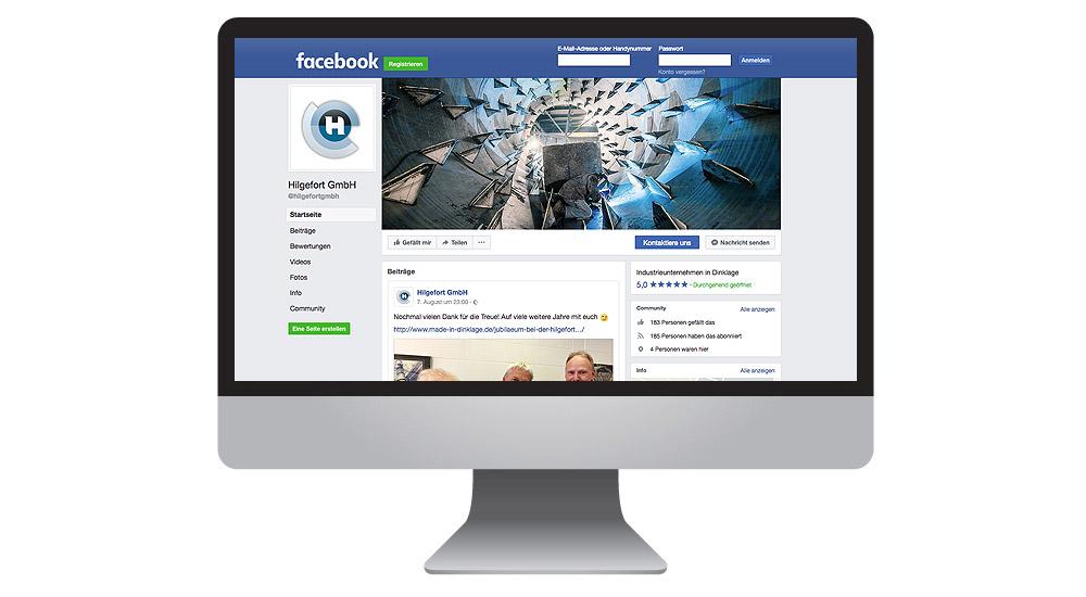 Facebook für Anlagenbau Hilgefort