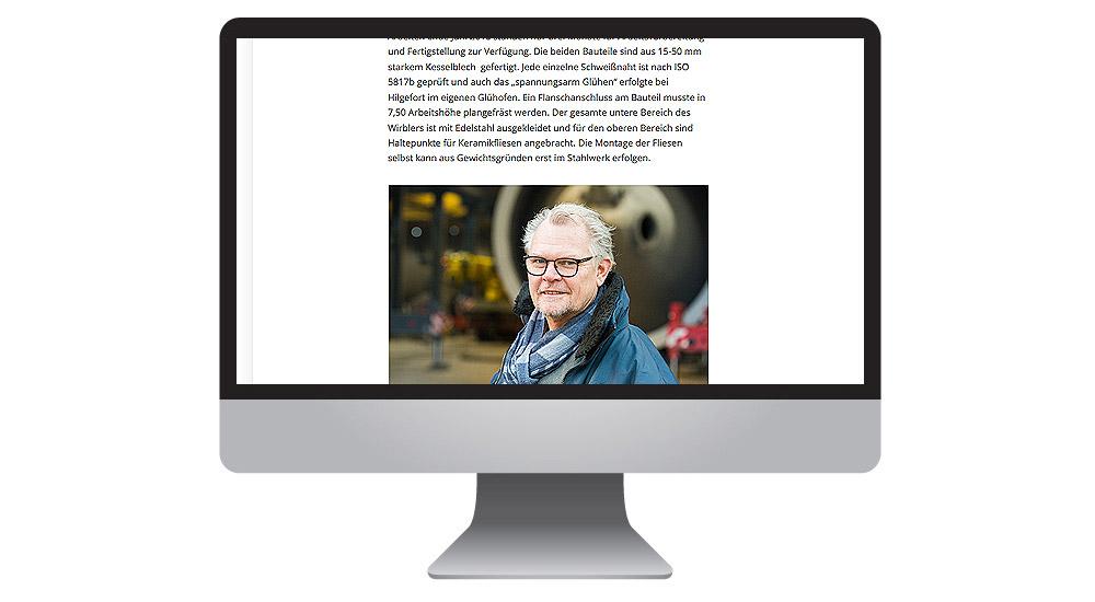 Pressearbeit im Anlagenbau: made by together concept Werbeagentur