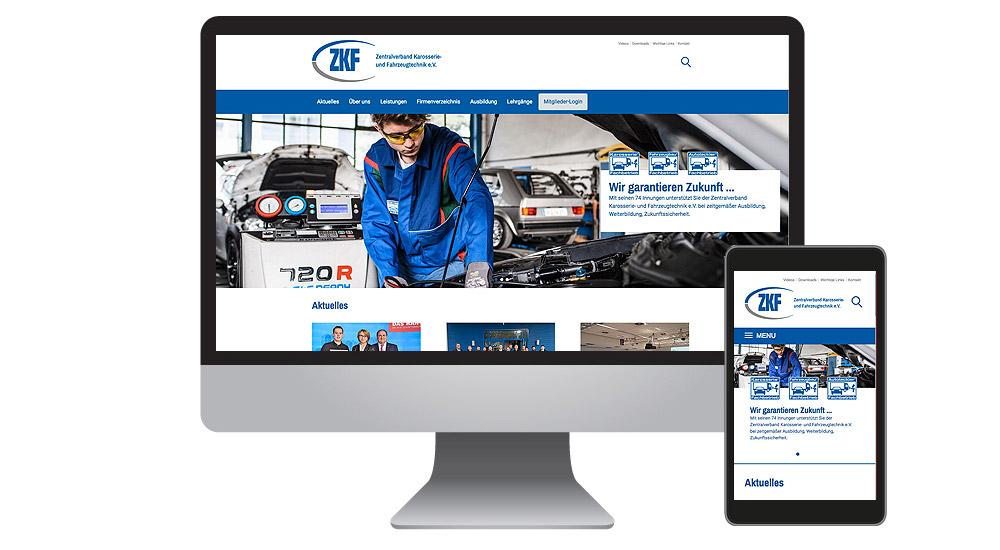 Neue Homepage für den Verband - ZKF-Relaunch made by together concept