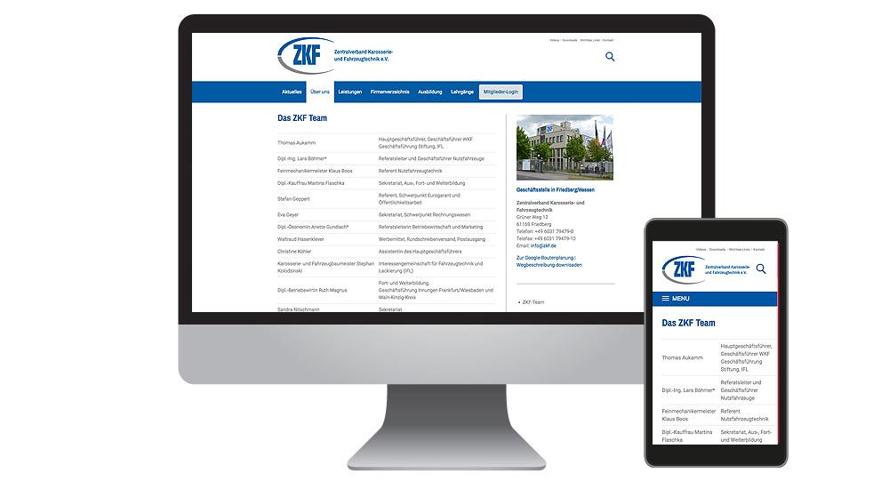 Verband präsentiert neue Homepage - der ZKF relauncht seine Webseiten