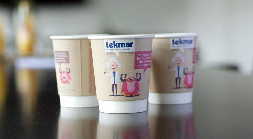 Witzige Werbemittel | Kaffeebecher für tekmar