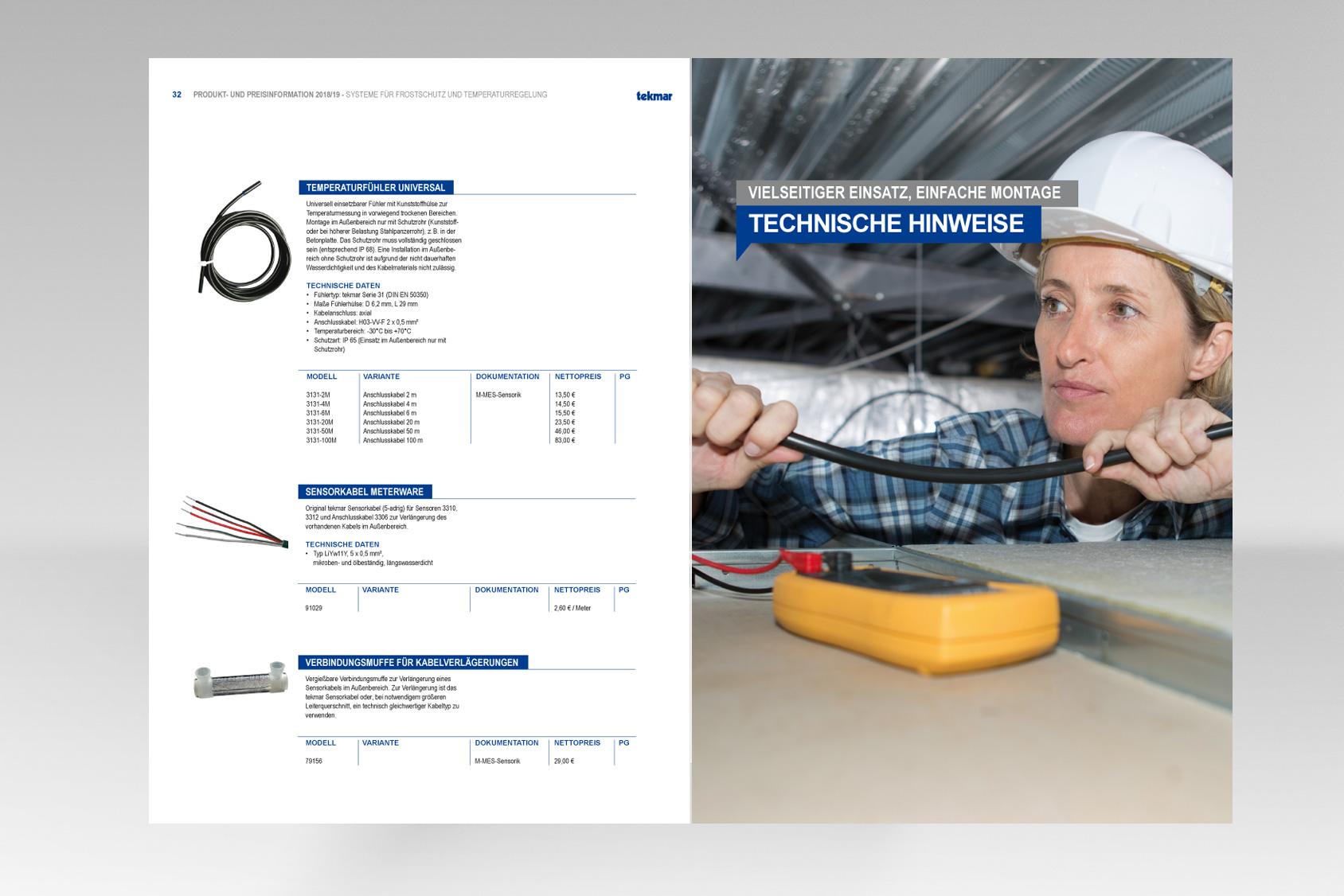Katalog für technische Produkte