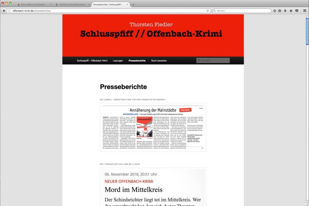 """Clevere Promotion für """"Schlusspfiff – der Offenbach Krimi"""""""