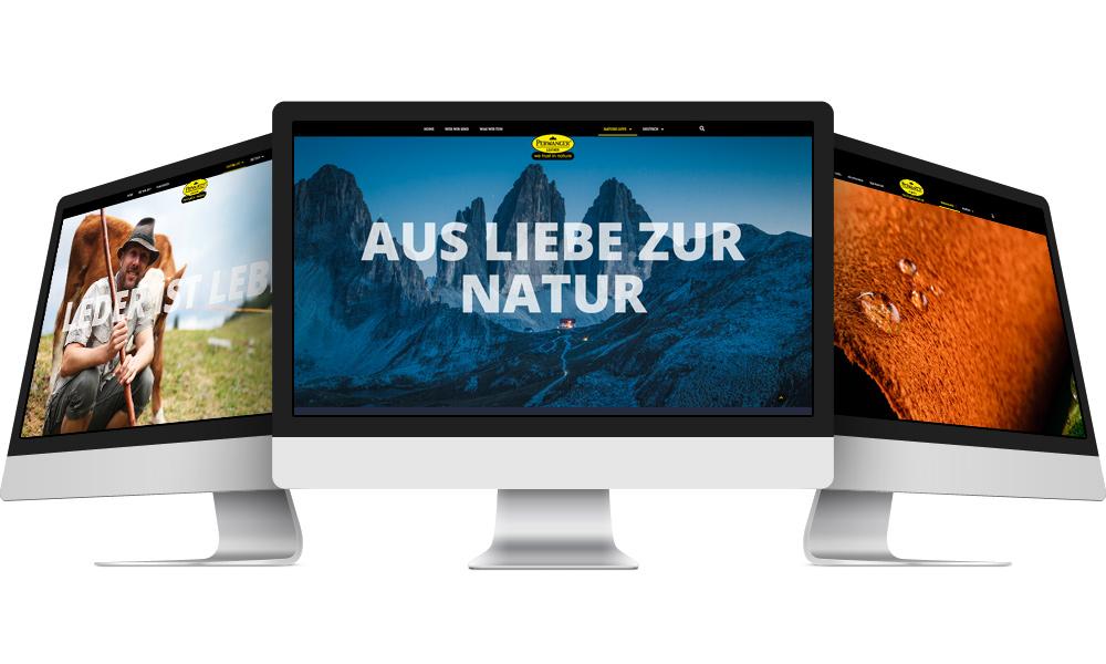 Im Zentrum der Unternehmenskommunikation steht die neue Perwanger Marken-Webseite